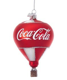 Take a look at this Coca-Cola Glass Hot Air Balloon Ornament today! Pepsi, Coke, World Of Coca Cola, Festival Decorations, Red And White Stripes, How To Make Ornaments, Hot Air Balloon, Toys For Girls, Glass Ornaments