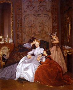 The Hesitant Betrothed (1866)  Auguste Toulmouche (1829–1890)