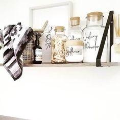 Laundry Label Sets - Pantry Kmart Jars - Pretty Little Designs – Pretty Little Designs Pty Ltd Kitchen Organisation, Laundry Room Organization, Organisation Ideas, Organizing, Kitchen Jar Labels, Laundry Labels, Custom Pantry, Shabby Chic Kitchen, Kitchen Decor