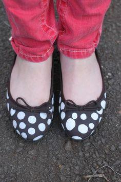 DIY Polka dot shoe DIY Halloween