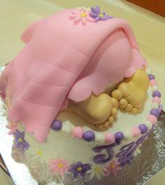 baby rump cakes for girls | Baby bottom cake — Baby Shower