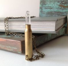 Crystal Long Bullet Necklace by behressentials on Etsy, $30.00