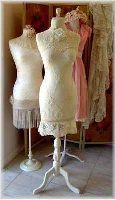 Vintage & deco styling dress forms. Love