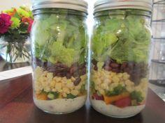 Mason Jar Southwestern Salad