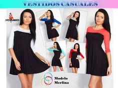 Vestidos Casuales Para Damas - Somos Fabricantes - Bs. 6.900,00 en MercadoLibre