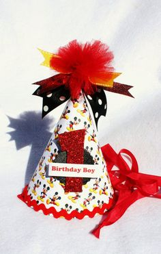 Items similar to Red White and Black Mickey Mouse Birthday Party Hat on Etsy Birthday Party Hats, Mickey Mouse Birthday, Birthday Ideas, Mickey Mouse Parties, Mickey Party, Twin First Birthday, Decorating Tips, Party Time, Twins
