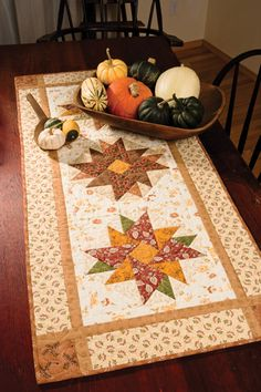 PINTEREST EASY QUILTS   Pieced table runner adds zest to bountiful display.
