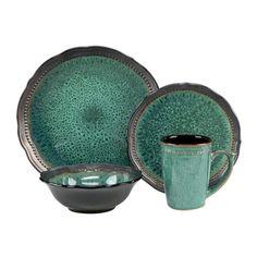 Cuisinart Jenna Collection 16-Piece Dinnerware Set in Green