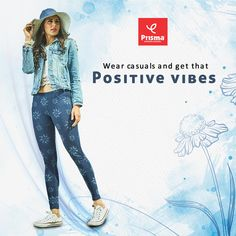 Women who have that expressive look and lovely smile can outsmart others when they wear Prisma's Printed #Jeggings along with tees and shirts. You should complement this soft and smart casuals with classic sneakers and attractive accessories. #prisma #prismagirl #StayHome #StaySafe #COVID19  #brandprisma #womenswear #prismajeggings #caprijeggings #capri #comfortwear #livafluid #premiumquality #jeggings  #trend #style #vogue #fashion #ootd #outfit #shopping #onlineshopping Lovely Smile, Classic Sneakers, Vogue Fashion, Smart Casual, Positive Vibes, Jeggings, Tees, Shirts, Capri