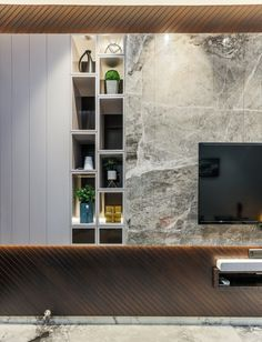The heaven garden bungalow Tv Wall Design, Tv Unit Design, Home Room Design, Home Interior Design, Zig Zag Wall, Huge Master Bedroom, Parents Room, Small Pantry, Blue Leaves