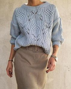 Super Ideas For Knitting Patterns Sweaters Easy Fashion Outfits Knitwear Fashion, Knit Fashion, Sweater Fashion, Sweater Outfits, Fall Outfits, Fashion Outfits, Easy Knitting, Knitting Patterns Free, Sewing Patterns