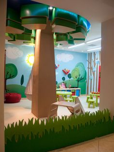 I want a basement where we can have a play room like this!!