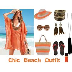 Chic Beach Outfit, created by ecosusi on Polyvore