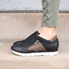 these fashionable sneakers take you a step in the right direction! These comfortable shoes will not steer you wrong! This shop favorite was a must have for us! We fell in love with these the moment they were on our feet. So stinkin' comfortable!    Crafted with genuine leather    Fabric Lining    Lightweight eva flex sole