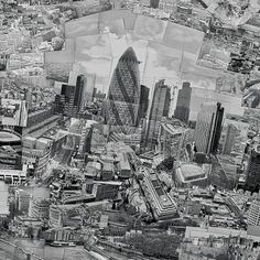 "This Photographic joiner of the city of London is a patchwork of around 4,000 Black and White photographs by Japanese artist Sohei Nishino. Nishino has mapped out ten cities including London, Paris and New York City. Nishino describes the process as ""re-imagining"" a landscape and it begins with a month long walk through the city. He photographs different sections of a City on Black and White film. He then hand processes the images and assembles them using scissors and glue in his Tokyo…"