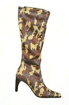 Eden 225 Kamu Camo High Heel Womens Boots Multi Size 8