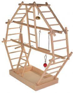 Trixie Wooden Ladder Playground 44 44 16 cm for small pet caged birds Parrot Pet, Parrot Toys, Cockatiel, Parrots, Parakeets, Budgie Toys, Parakeet Toys, Small Birds, Vivarium