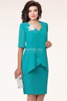 Compra Plus Size Summer Women Chiffon Knee Length Dress Elegant Solid Short Sleeve Office Dress Mother of Bride Dress Party Dresses en Wish- Comprar es divertido Mother Of Bride Outfits, Mother Of Groom Dresses, Mob Dresses, Short Sleeve Dresses, Bride Dresses, Women's Fashion Dresses, Mode Inspiration, Occasion Dresses, Elegant Dresses