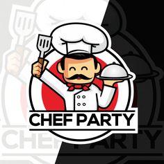 Chef Mascot Esport Style Logo Design Logo Design Cute Mascot Logo Chef Logo Design Graphics