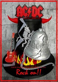 ACDC - Hells Bells Rocker Cake - Cake by Mel_SugarandSpiceCakes