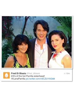 Lana, Fred and Lana's Mom at the GLAAD Awards 04-20-13 off twitter