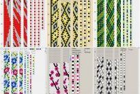 80 схем вязания шнуров из бисера на 7-8 бисерин