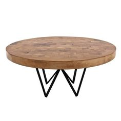 Maurits Round Marquetry Table in Reclaimed Oak from Old Italian Wine Barrels  6
