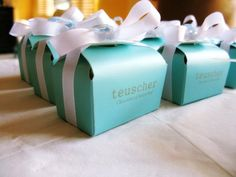 Customized 2 pc party favors by teuscher chocolates. contact@teuscher-bh.com 888-443-8992