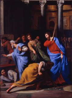 Nicolas Colombel, Christ Expelling the Money-Changers from the Temple, 1682