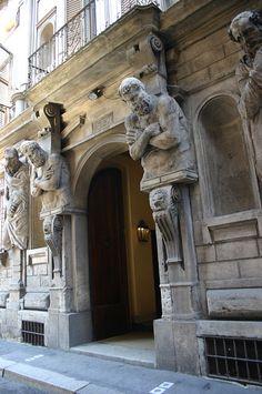 Casa degli Omenoni. by Leone Leoni. Milano 1565