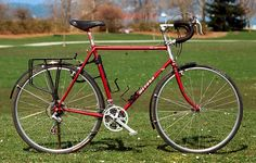 indexed shifting, bar-end shifters, and normal (ie:round) chainrings. Kinda miss the foam grips. Touring Bicycles, Touring Bike, Cargo Bike, Nirvana, Peugeot, Trailers, Wheels, Culture, Adventure