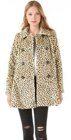 faux fur cheetah coat / free people