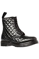 Dr. Martens The Coralie Quilted 8-Eye Boot in Black
