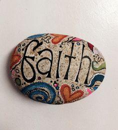 DIY painted rock #beach #faith