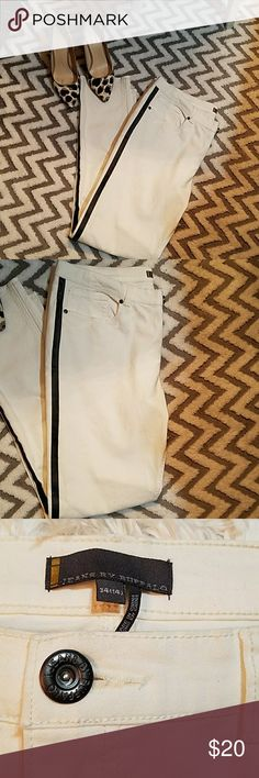 Jeans By Buffalo Jeans By Buffalo,White w/ Black tuxedo Stripe..98% 2% Cotton . Great Condition. jeans by buffalo Pants