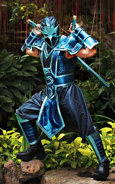 Cosplay as my favorite character shen from League of Legends.