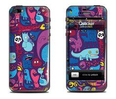 Выпуклая наклейка Monsters Night iPhone 5 | 5s купить в интернет-магазине BeautyApple.ru.