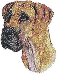 Advanced Embroidery Designs - Great Dane II