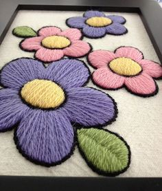 what is crewel embroidery  | Flickr, Modern Flowers, Flowers Crewel, Woolen, Embroidery Flowers ...