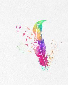Feather vanish in birds of colors