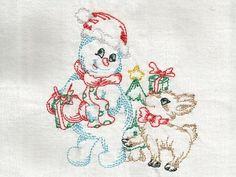 Colorlines Snowman Machine Embroidery Designs http://www.designsbysick.com/details/colorlinesnowman