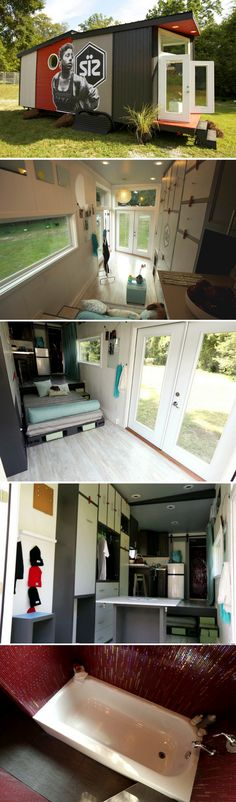 A 200 sq ft tiny house that doubles as a home and retail shop!