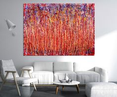 room-view Unique Paintings, Paintings For Sale, Original Paintings, Paint Strokes, Action Painting, Handmade Frames, Flower Backgrounds, Abstract Expressionism Art, Acrylic Painting Canvas