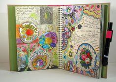 Peony and Parakeet: Photo Album Art Journaling