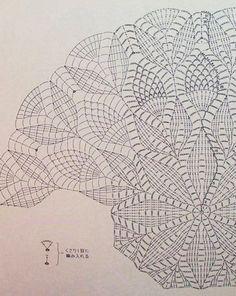 Crochet Doily Diagram, Crochet Mandala Pattern, Crochet Square Patterns, Crochet Circles, Free Crochet, Crochet Dollies, Crochet Stars, Thread Crochet, Crochet Stitches