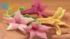 Crochet Bell Flower We invite you to visit https://www.sheruknitting.com/ There are over 800 video tutorials of crochet and knitting in different techniques. Also, you can see unique authors' design in these tutorials only on a website at https://www.sheruknitting.com/  Enjoy all you get from a membership: - No advertising on all tutorials; - Valuable in different devices; - Step by step and detailed video tutorials; - New courses added every week