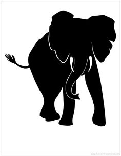 Elephant use as stencil for metal board