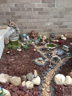 The corner near your porch is the perfect place to build a fairy garden.