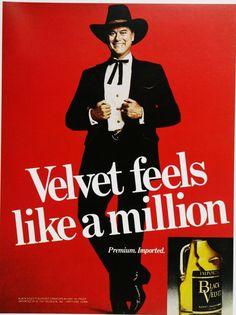 Larry Hagman Black Velvet Ad