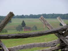The Stone House, as seen from Henry Hill, Manassas Battlefield Park.